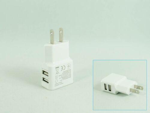 2A DC5.0V 100V-240V 2 Port USB Power Charger Adapter US Plug
