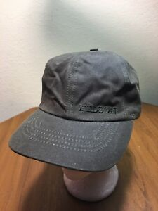 CC Filson Cloth Hat Insulated Sz S Blaze Orange Tan Cap Tuck Away Ear Flaps