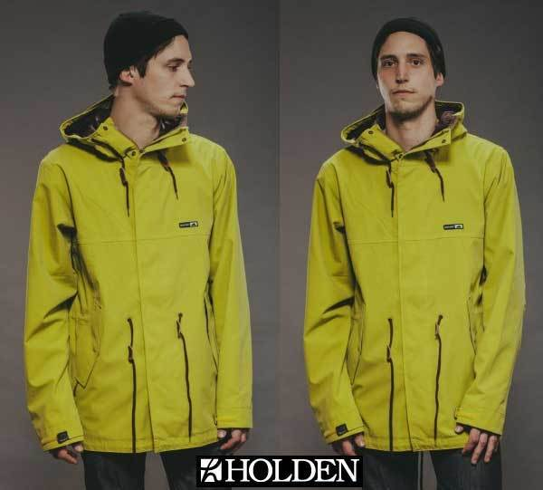 HOLDEN Fishtail WATERPROOF and INSULATED Ski SNOW Board JACKET Coat MEN sz Sm Md