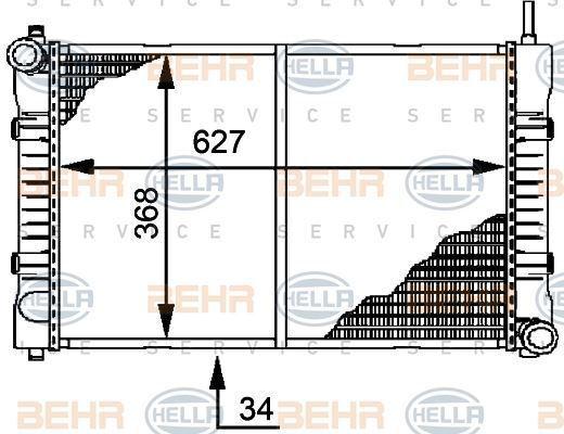 8mk 376 721-291 HELLA RADIADOR REFRIGERACIÓN DE MOTOR