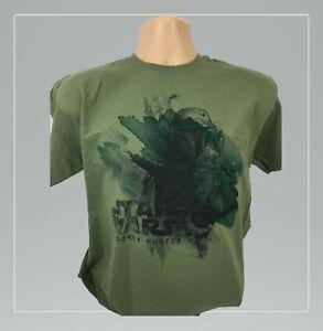 Star-wars-Mens-Short-sleeve-Tshirt-Bounty-hunter-Green-khaki-Fruit-of-loom