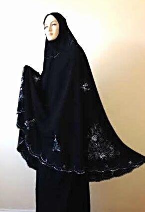 Ensemble tenue prière Noir islmaic femme Habits Vêtements femme modeste un Ahram