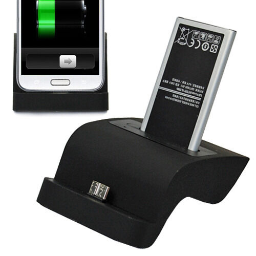 Sync Base Dock Phone & Battery Charger Stand Holder For Samsung Galaxy S5 i9600