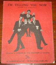 FREDDIE AND THE DREAMERS ~ I'M TELLING ~ ORIGINAL UK SONG MUSIC LYRIC SHEET 1963