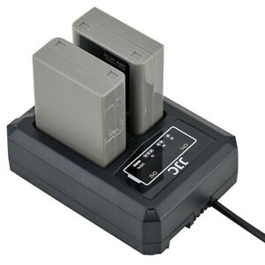Usb-Dual-Double-Battery-Charger-Station-Dock-Dch-Bln1-For-Olympus-Bln-1