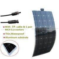 Semi Flexible Solar Panel 100w 50w 40w Solar Module Power Charge Camping Caravan