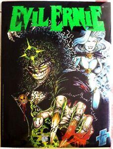 Brian-Pulido-039-s-Evil-Ernie-Chromium-Poster-w-Litho-Auto-Steven-Hughes-1994-Rare