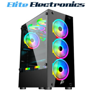1st Player Fire Dancing V2-A Tempered Glass ATX Computer Gaming Case