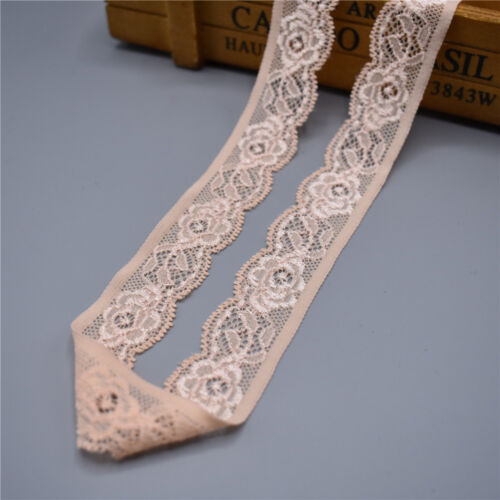 10 yards stretch elastic lace ribbon 25mm wide Trims lace trimmings For Sewing