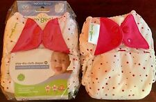 NIP 2 BumGenius Snap Stay-Dry 4.0 Cloth Pocket Style Diapers One Size-Polka dots