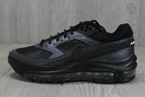 42 Nike Air Max 97/BW Black/Metallic Running Shoes Sz 6 (Wmns 7.5) AO2406 001