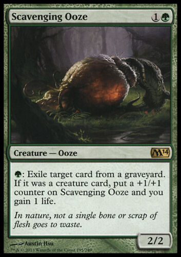 SCAVENGING OOZE NM mtg M14 Green - Creature Ooze Rare