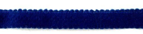 € 2,25//m 80 cm BH-Zubehör BH-Trägerband elastisch Blau Velours 10 mm