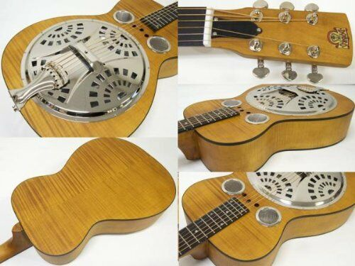 EPIPHONE Dobro Hound Hound Hound Dog Deluxe Round Neck Natural Acoustic Guitar F.Shipping 4cda6d