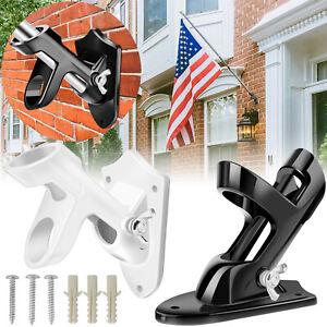 2-Positions-1-039-039-Diameter-Flag-Pole-Holder-Bracket-Wall-Mounted-Aluminum-Support