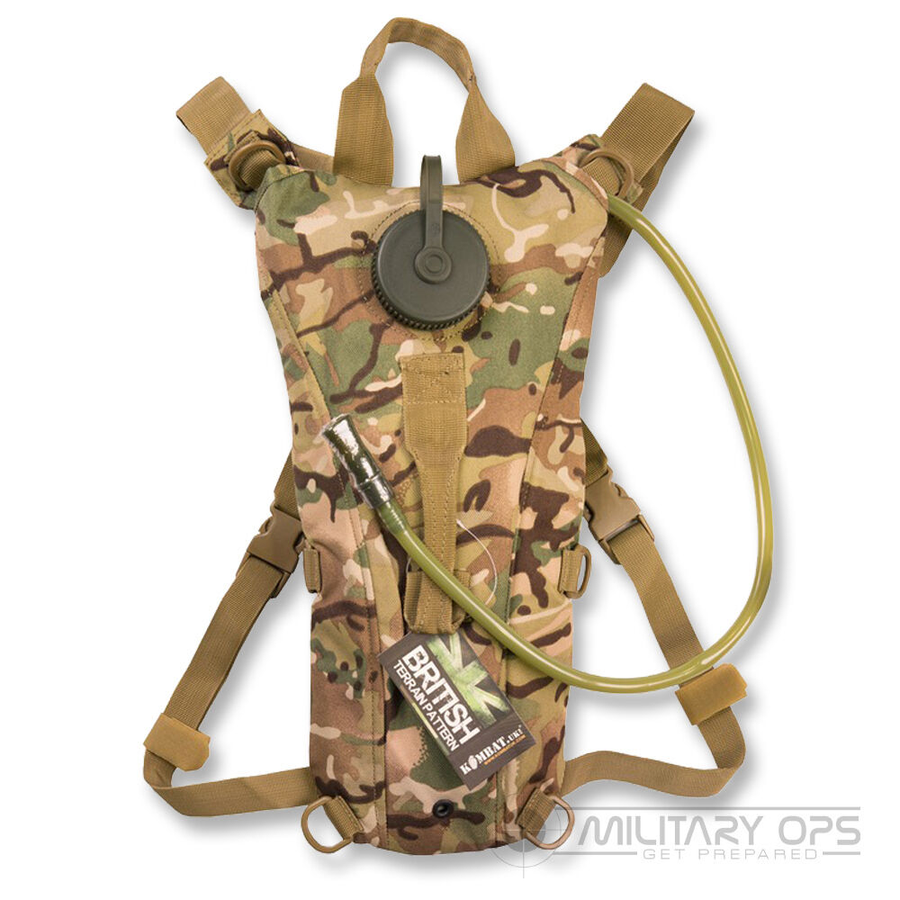 BTP MTP MULTICAM 2 LTR HYDRATION POUCH AND BLADDER MILITARY ARMY WATER