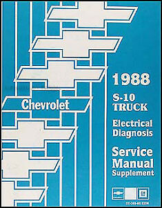 1988    Chevy    S 10 Pickup and Blazer Electrical Diagnosis
