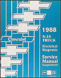 Outstanding 1988 Chevy S 10 Pickup And Blazer Electrical Diagnosis Manual S10 Wiring Cloud Hisonuggs Outletorg