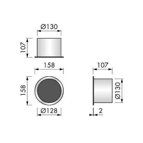 Easy Drain Container Roll WC Papier Vorratsbehälter Round Unterputz Ø 158