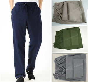 100-Cotton-Kung-Fu-tai-chi-martial-arts-pants-wing-chun-Bruce-Lee-Trousers-Mens