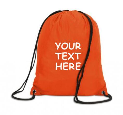 Custom PE Kit Bag Personalised Drawstring Gymsac US Sac Sac Gym School