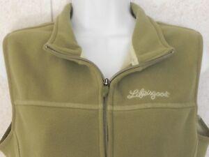 Life-Is-Good-Women-039-s-Size-M-Full-Front-Zip-Green-Color-Vest