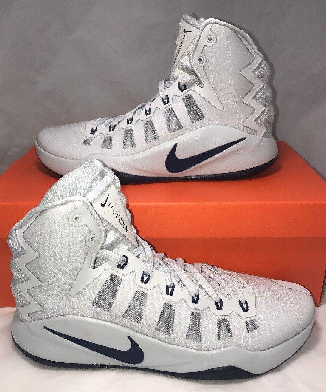 140 Nike Hyperdunk Mens Size 10 Platinum Navy 2016 Basketball Shoes New