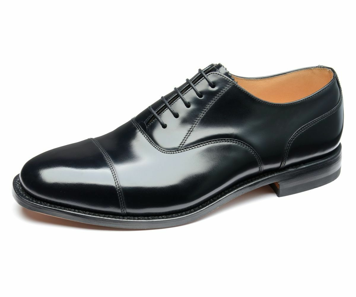 MENS LOAKE 200B schwarz LEATHER OXFORD LACE UP WEDDING OFFICE LEATHER SOLE schuhe    | Ruf zuerst