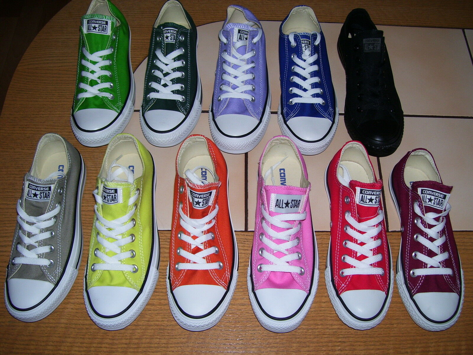 Converse All Star Ox Chucks Kult low Sommerfarben Grösse 36 bis 46 neu