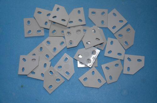 Fischertechnik 25 x Eckknotenplatten grau