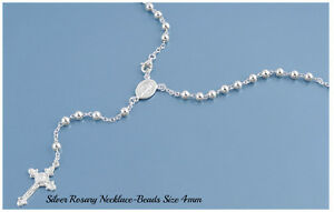 Sterling-Silver-925-ROSARY-NECKLACE-MADE-IN-ITALY-4MM-L-18-20-22-24-26-28-amp-30-034