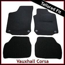 Vauxhall Corsa C 2000-2006 Tailored Fitted Carpet Car Floor Mats BLACK