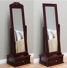 Delicieux Item 3 Jewelry Armoire Women Full Body Cheval Mirror Length Floor Storage  Drawer Cherry  Jewelry Armoire Women Full Body Cheval Mirror Length Floor  Storage ...