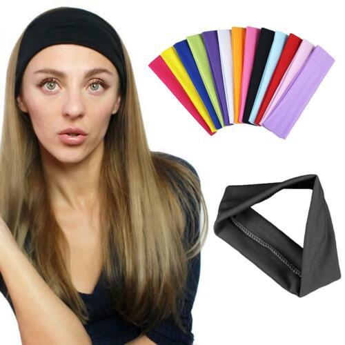 Woman Sport Yoga Stretch Headband Head Band Wide Hair Bands Sweatband