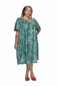 39c0219a3b92 MuMu House Shifts Dresses Duster Floral Prints S M L XL 1X 2X 3X 4X ...