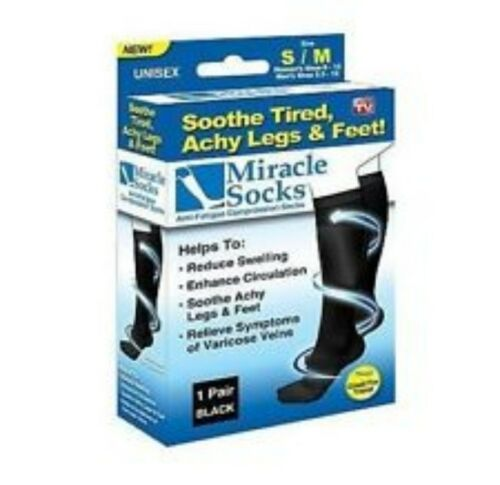 4 Pairs x Travel Compression Socks for DVTSpiderVaricose Veins FCTC80MS