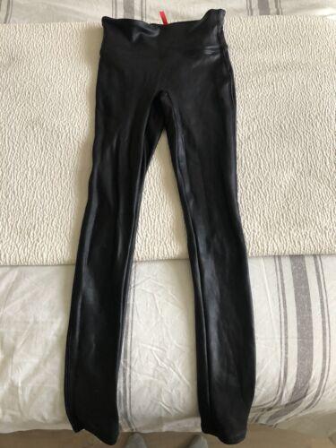 spanx faux leather leggings xs
