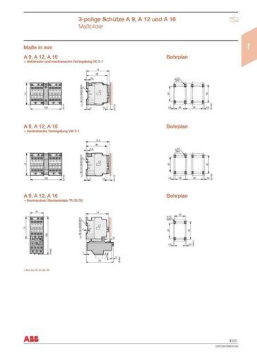 Nr 4036.7002 ABB Schütz Typ A16-30-01 220-230V 50Hz