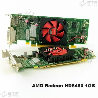 Lot of 2 AMD Radeon HD6450 1GB DVI DisplayPort Video Card Dell 00WH7F 0NFXD5