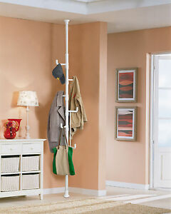 sobuy vestiaire portemanteau porte manteau hauteur r glable frg159 w ebay. Black Bedroom Furniture Sets. Home Design Ideas