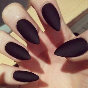 Image Is Loading Classic Matte Black Press On Nails Handmade Fake