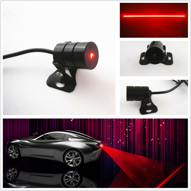 Red Laser Fog Light Rear Anti-Collision Taillight Warning Lamp for SUV Offroad
