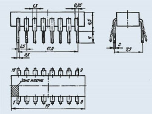 K155IR15V = SN74173 IC Microchip USSR  Lot of 3 pcs