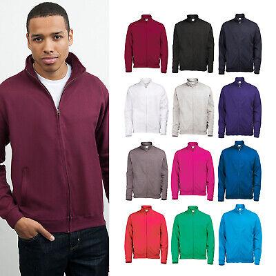AWDis Hoods-Mens Hoodies Sweatshirts-Fresher full zip sweatshirt-Front pockets