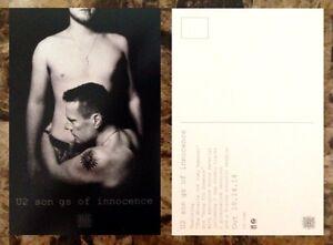 U2-Songs-Of-Innocence-Ltd-Ed-Discontinued-RARE-Postcard-FREE-Rock-Pop-Stickers
