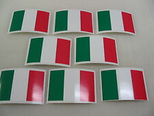 8 ITALIAN FLAG Sticker Decal LOT 4 boat car Window Truck suv Wholesale ITALY