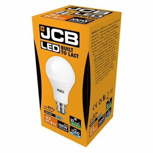 JCB LED GLS Bulbs 6w = 40w 10W = 60W 15w = 100 WATT BC B22 ES E27 3000k//6500k