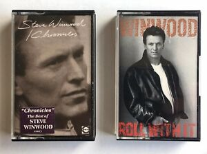 Steve-Winwood-2-x-Cassettes-Roll-With-It-TCV2532-amp-Chronicles-SSWC1