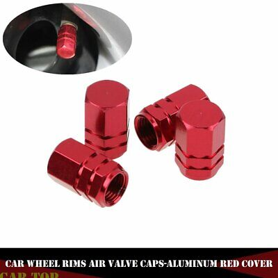 Aluminum Valve Caps Air Valve Caps Tire Valve Car Truck Red