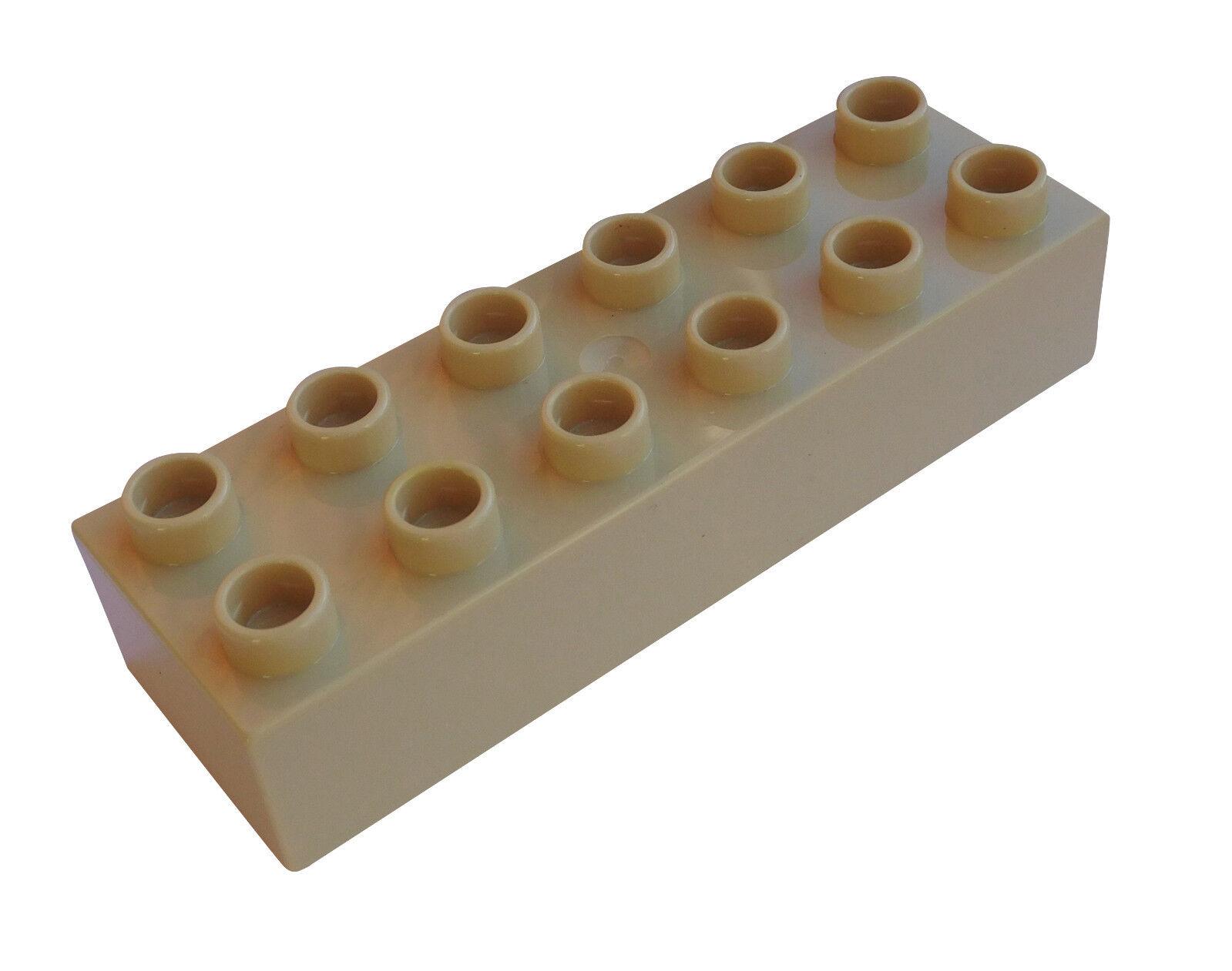 8 Stück 2x6 Platten beige LEGO®